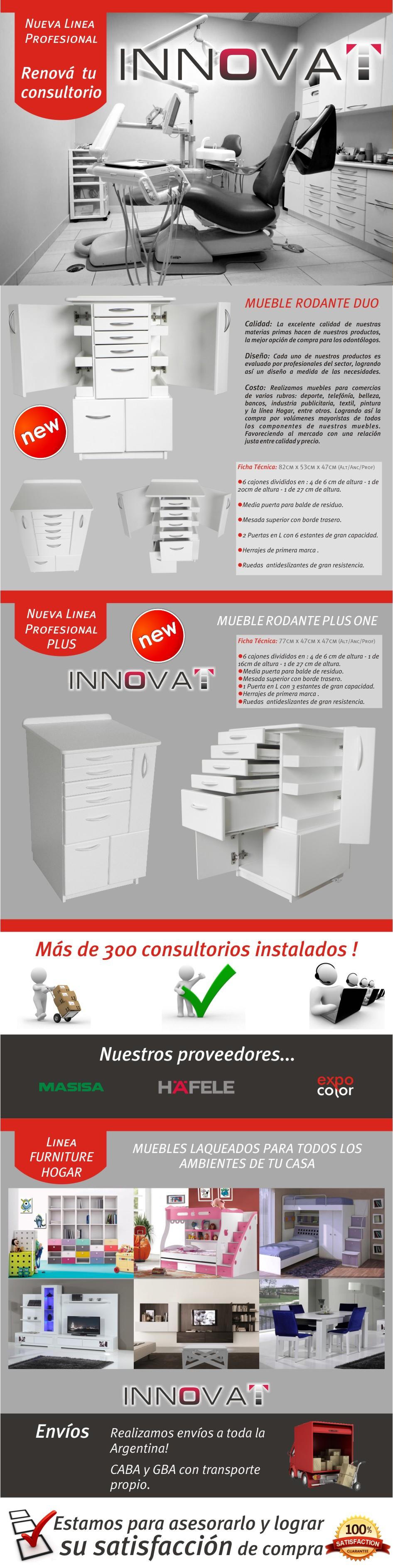 Mueble Rodante Odontol Gico Modelo Plus One 5 600 00 En  # Muebles Ficha Tecnica